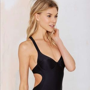 Noe Undergarments Black Body Suit